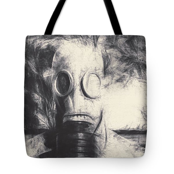 Vintage Gas Mask Terror Tote Bag