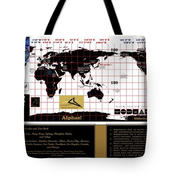 Globalocity Tote Bag by Peter Hedding