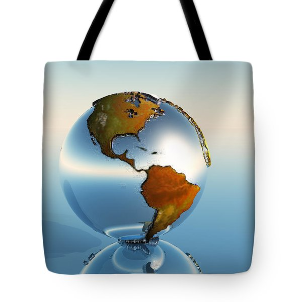 Globe Tote Bag by Corey Ford