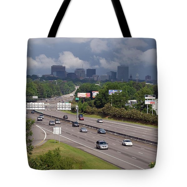 Tote Bag featuring the photograph Gloomy Columbia Skyline by Joseph C Hinson Photography