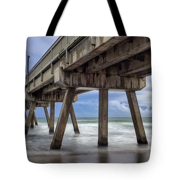 Gloomy Pier Tote Bag