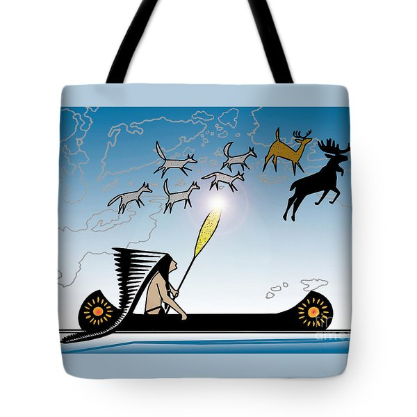 Glooscap Creates The West Isles Tote Bag