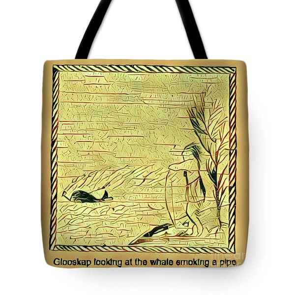 Glooscap Watching The Smoking Whale Tote Bag