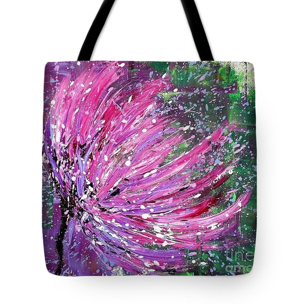 Tote Bag featuring the painting Gloria by Annie Young Arts