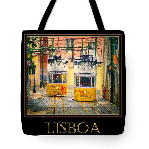 Gloria Funicular Lisboa Poster Tote Bag