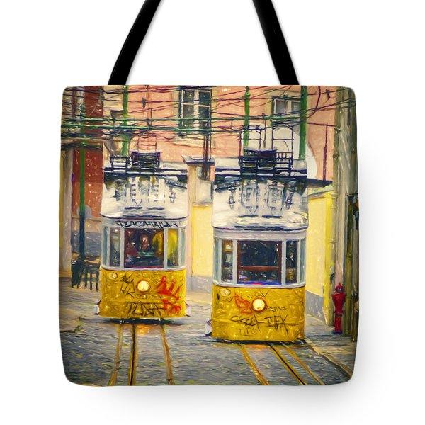 Gloria Funicular Lisbon II Tote Bag