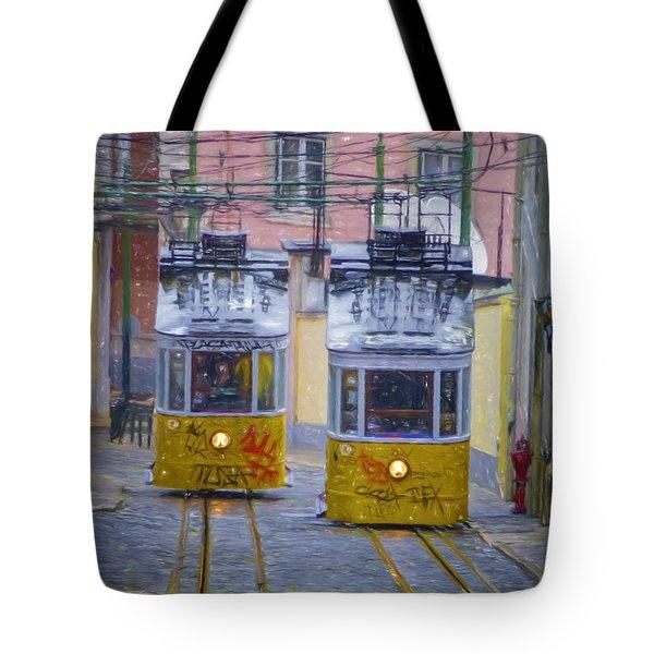 Gloria Funicular Lisbon Tote Bag