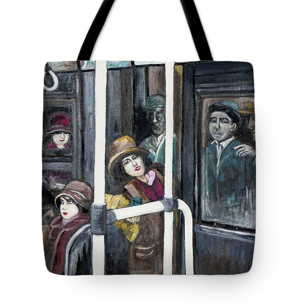 Gloria Swanson In Subway Scene From Manhandled Tote Bag by Reb Frost