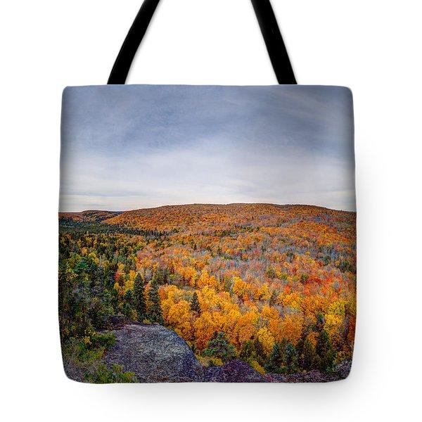 Glorious Autumn Lutsen Mountain Resort North Shore Minnesota Tote Bag
