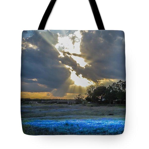 Da211 Glorious Bluebonnet Sunset By Daniel Adams Tote Bag