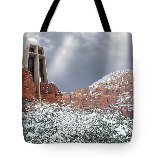 Tote Bag featuring the photograph Glorious Chapel Of The Holy Cross by Donna Kennedy