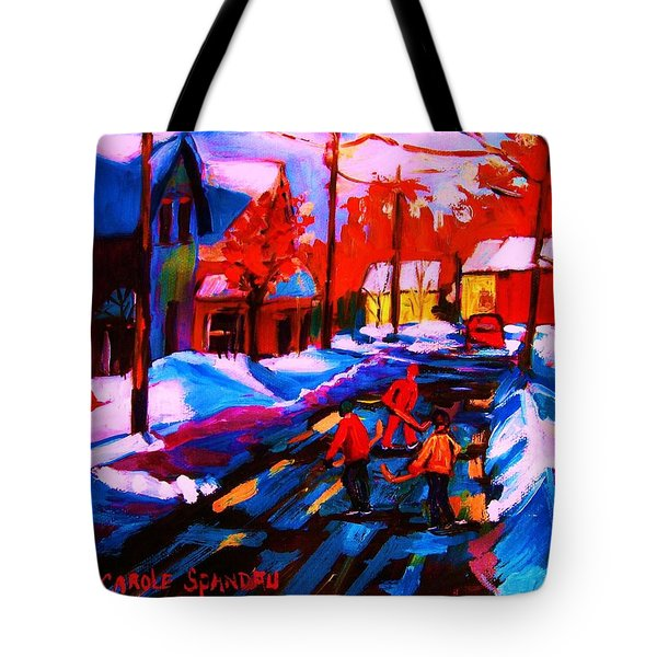 Glorious Day For A Game Tote Bag by Carole Spandau