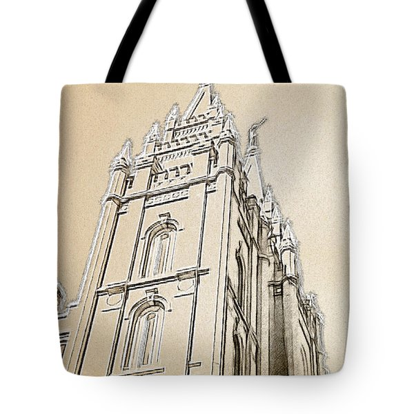 Tote Bag featuring the drawing Glory And Majesty by Greg Collins