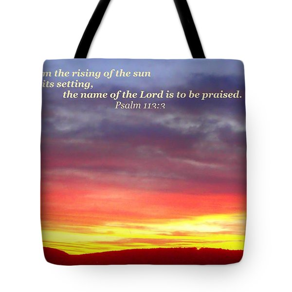 Glory And Praise  Tote Bag