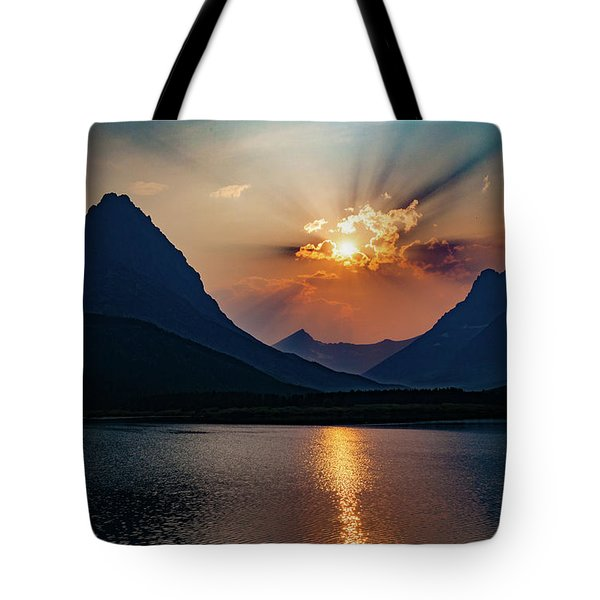 Tote Bag featuring the photograph Glory At Many Glacier by Lon Dittrick