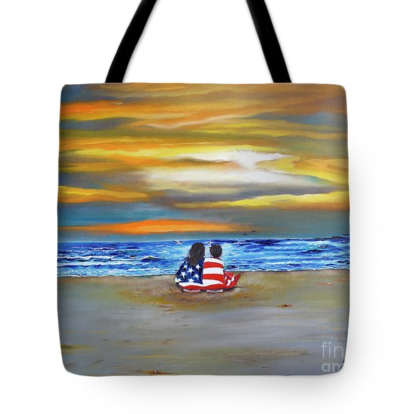 Tote Bag featuring the painting Glory by Barbara Hayes