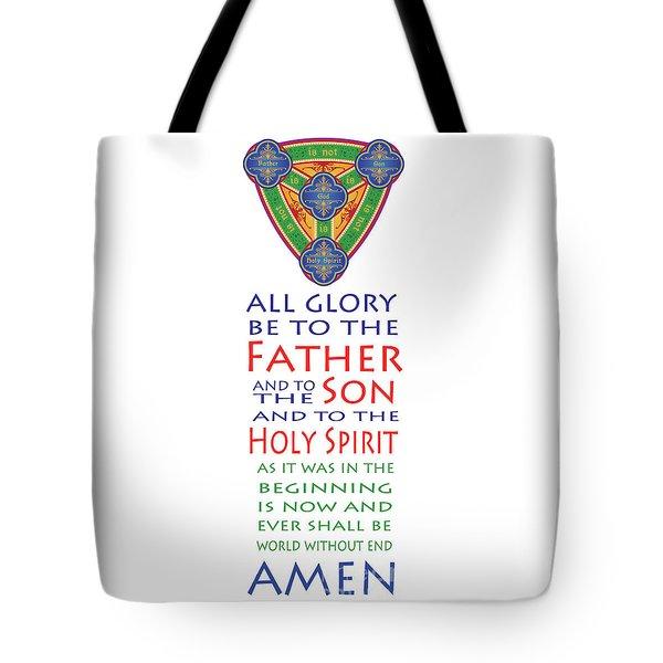Glory Be Prayer Tote Bag by Lawrence Klimecki