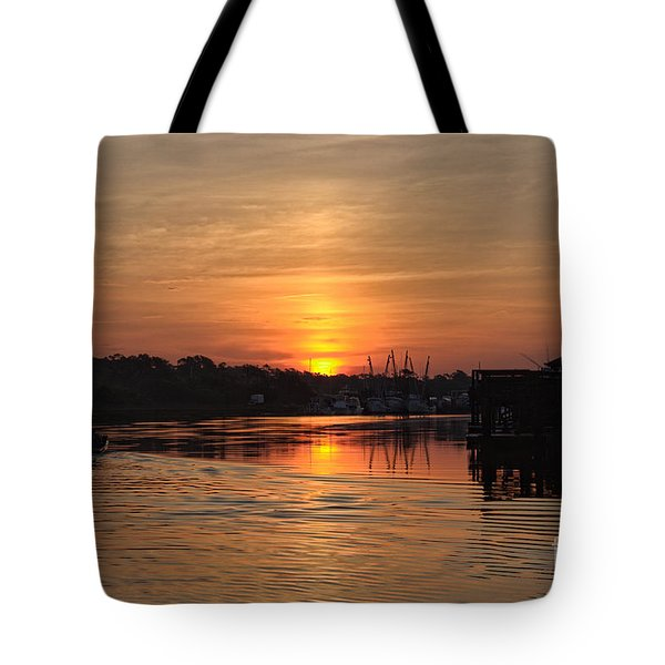 Glory Of The Morning On The Water Tote Bag
