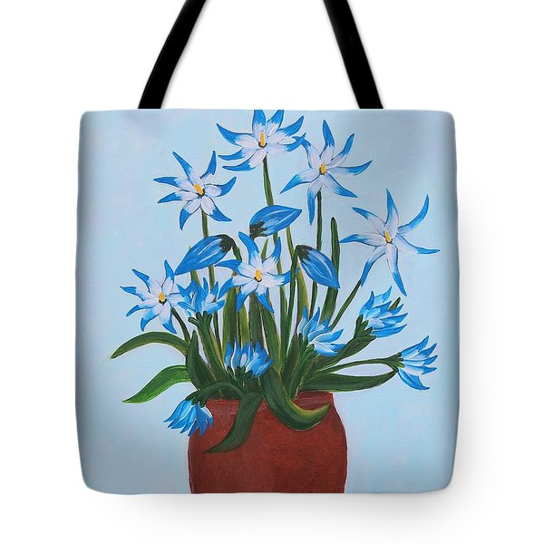 Glory Of The Snow Tote Bag by Barbara Griffin
