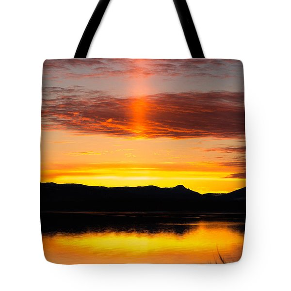 Tote Bag featuring the photograph Glory Pillar by Jan Davies
