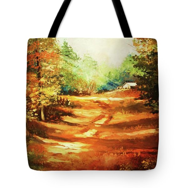 Glory Road In Autumn Tote Bag