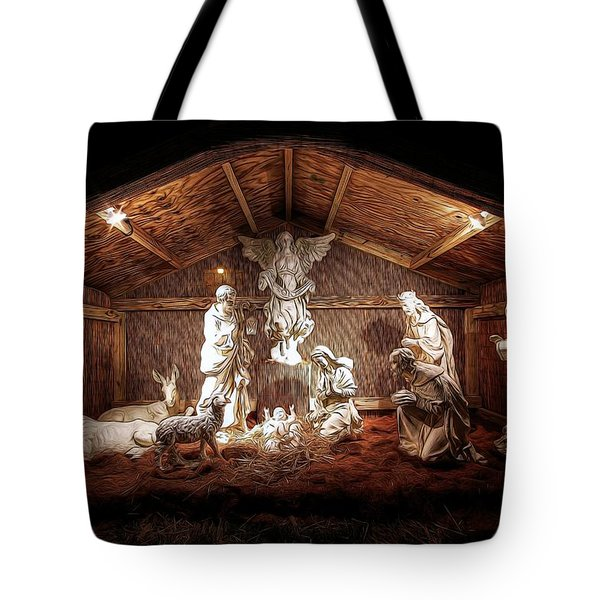 Glory To The Newborn King Tote Bag by Shelley Neff