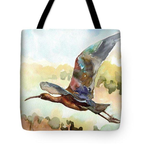Glossy Ibis Tote Bag