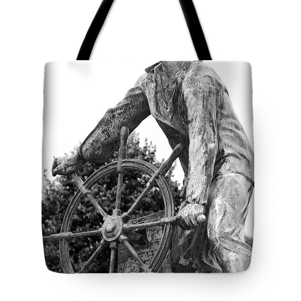 Tote Bag featuring the photograph Gloucester Fisherman's Memorial by Mitch Cat