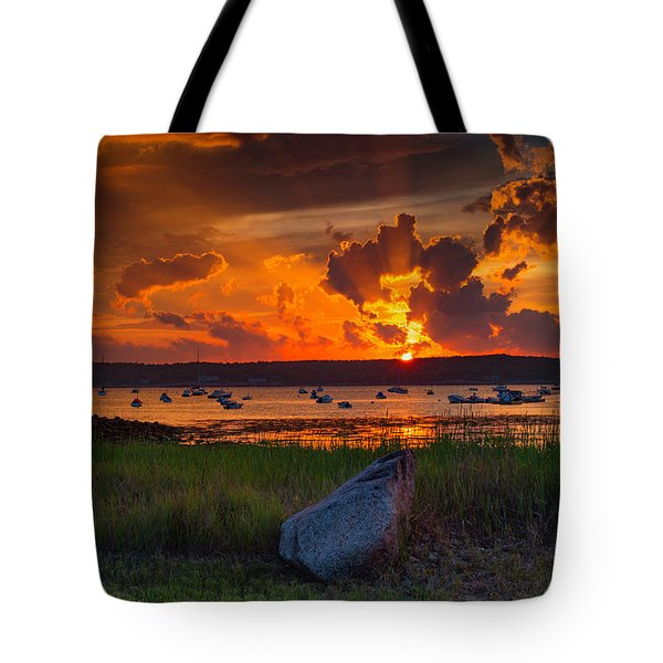 Gloucester Harbor Sunset Tote Bag