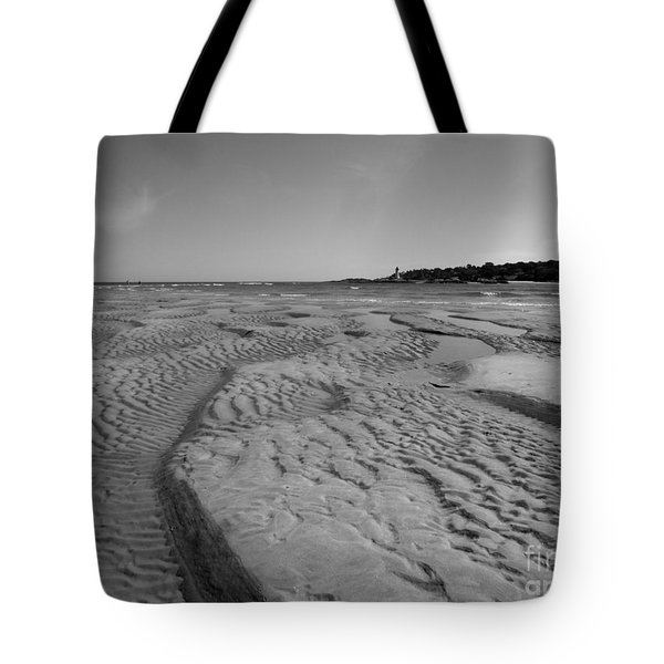 Gloucester Lighthouse Monocrhome Tote Bag
