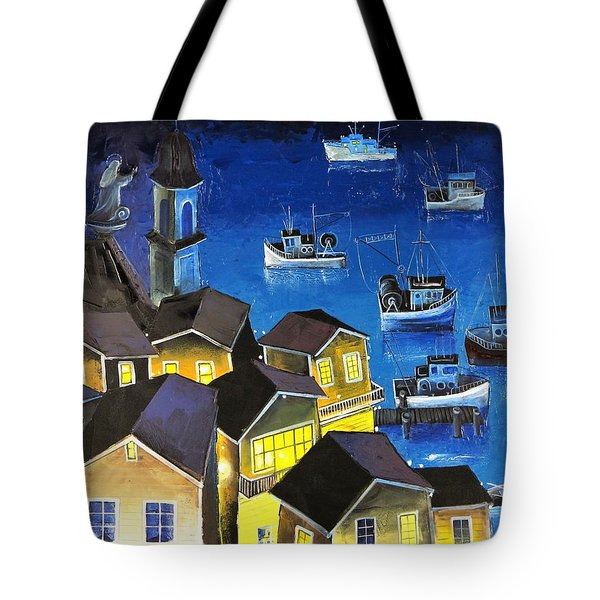 Glouchester Harbor Tote Bag