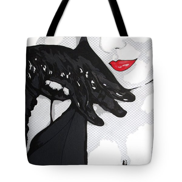 Tote Bag featuring the painting Gloves And A Smile by Dale Loos Jr