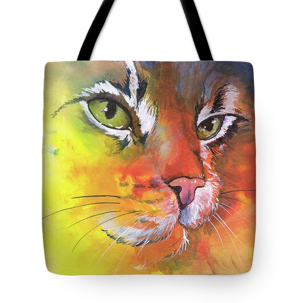 Glow Cat Tote Bag