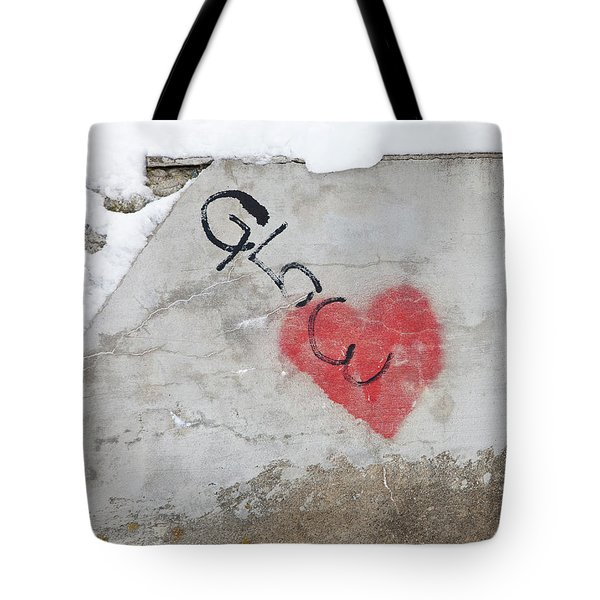 Tote Bag featuring the photograph Glow Heart by Art Block Collections