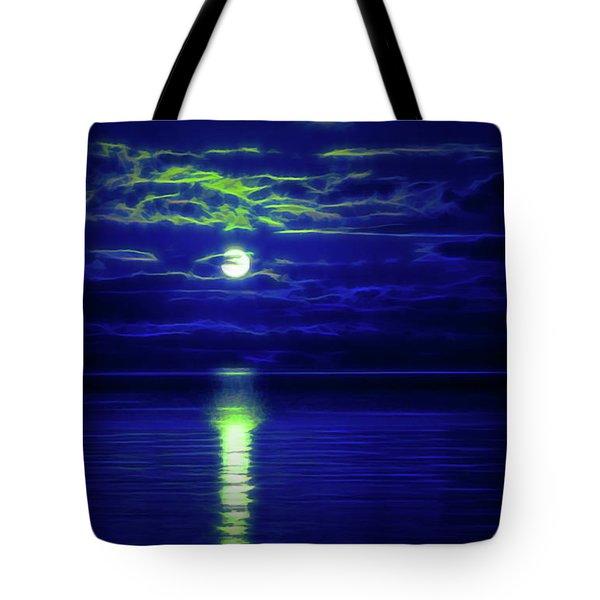 Glow In The Dark Amazing Sunset  Tote Bag
