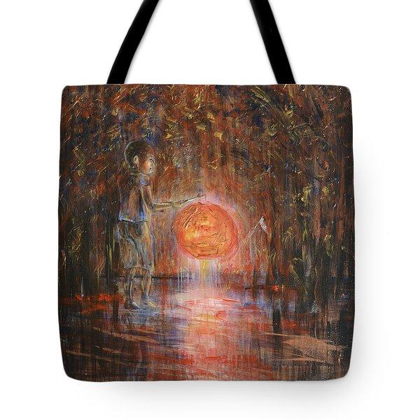 Glow In The Dark Tote Bag by Nik Helbig