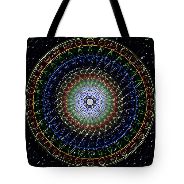 Tote Bag featuring the digital art Glow Of The Ferris Wheel by Mario Carini
