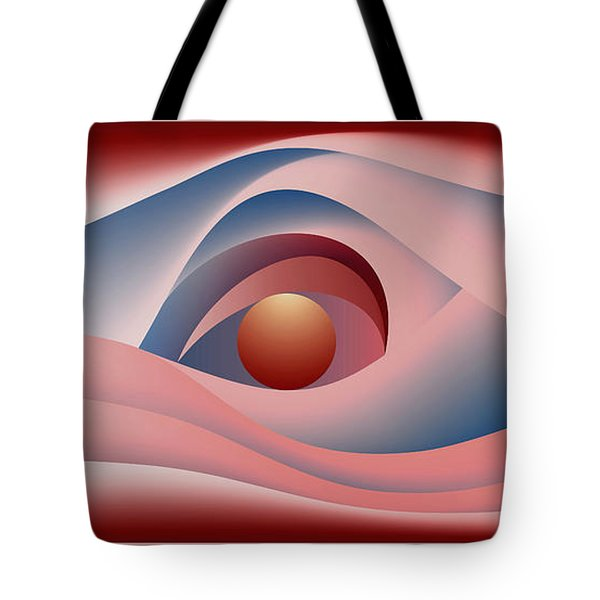 Tote Bag featuring the digital art Glow Over The Sea by Leo Symon