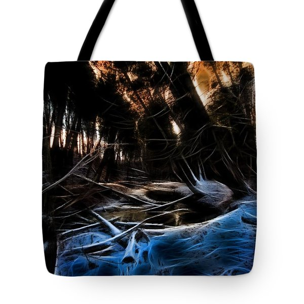 Tote Bag featuring the photograph Glow River by Michaela Preston