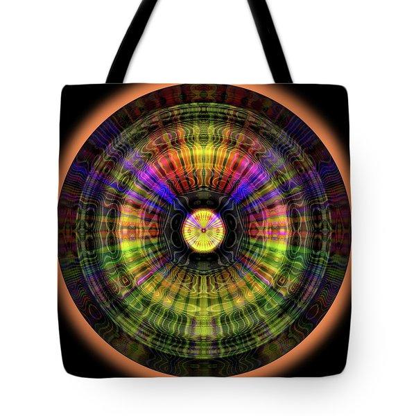 Tote Bag featuring the digital art Glow Wheel Eight by Visual Artist Frank Bonilla
