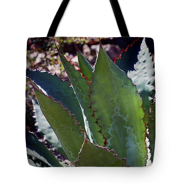 Tote Bag featuring the photograph Glowing Agave by Phyllis Denton