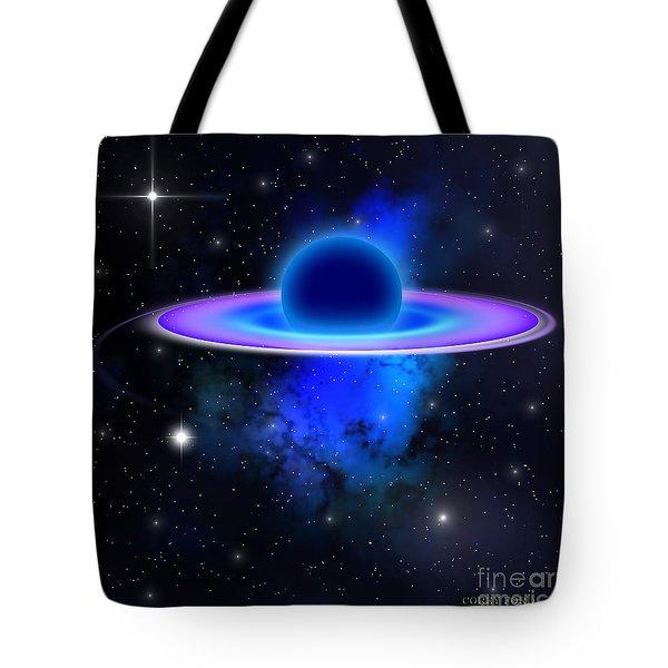 Glowing Black Hole  Tote Bag