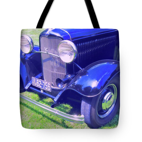 Glowing Blue Tote Bag