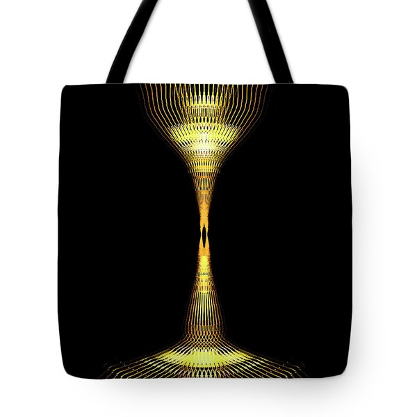 Glowing Brass Lamp Stand Tote Bag