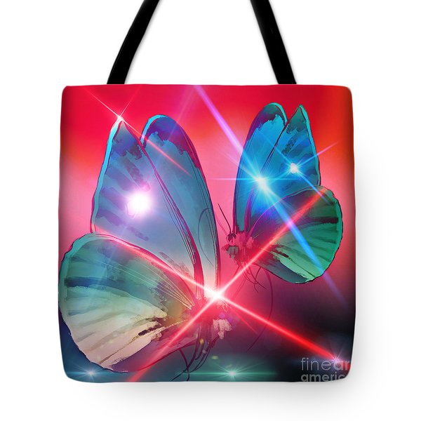 Glowing Butterflies Tote Bag