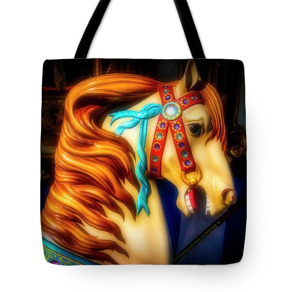 Glowing Carrousel Horse Tote Bag
