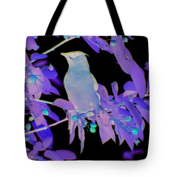 Glowing Cedar Waxwing Tote Bag