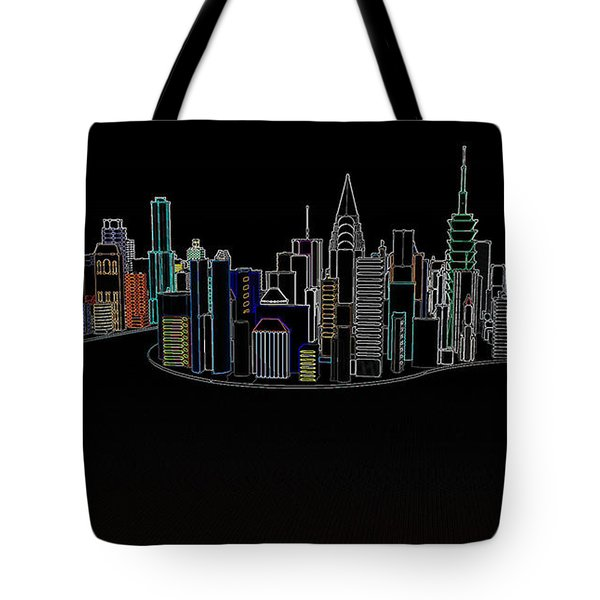 Glowing City Tote Bag