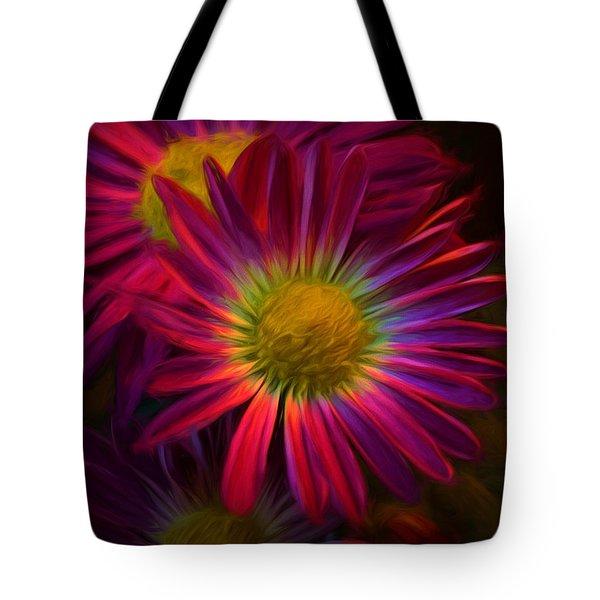 Glowing Eye Of Flower Tote Bag