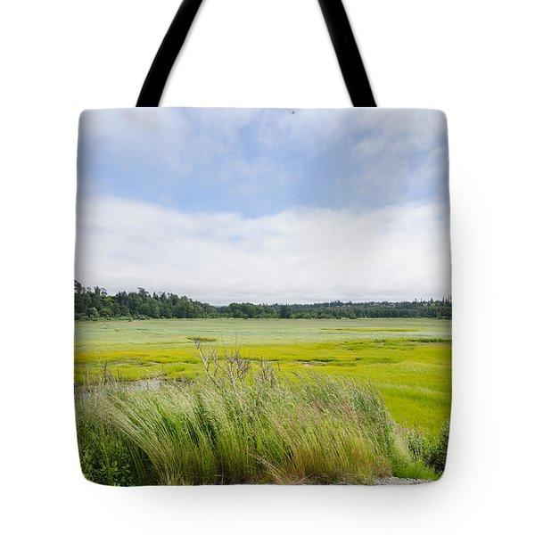 Glowing Fields Tote Bag